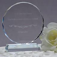 geschenken bruidsmeisjegift gepersonaliseerde aangepaste kristal round ornamenten