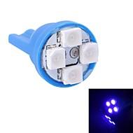 gc® t10 4w 120lm 4 × 3528 SMD ha condotto la luce blu per la luce strumento auto / porta / lampade tronco (dc 12v)