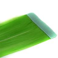 קלטות ארוכות וישרות ירוק דשא 2 יח הארכה סינתטית
