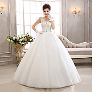 Ball Gown Wedding Dress Floor-length Straps Lace/Tulle