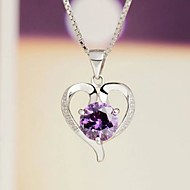 Halsband Cubic Zirconia Dam Jubileum/Bröllop/Förlovning/Födelsedag/Gåva/Party/Dagligen/Speciellt Tillfälle Sterling Silver