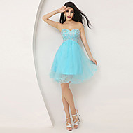 Cocktail Party Dress A-line Sweetheart Knee-length with Beading