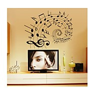 svítící samolepky na zeď na stěnu, styl hudby se číst noty poznámky z PVC samolepky na zeď