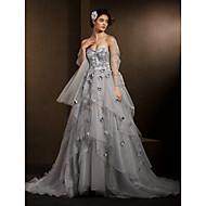 Lanting Bride Ball Gown Petite / Plus Sizes Wedding Dress-Chapel Train Sweetheart Organza