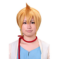 Angelaicos Men Magi The Labyrinth Of Magic Alibaba Cute Boy Short Layered Blonde Halloween Costume Party Cosplay Wig
