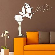 מדבקות קיר מראה מדבקות קיר, קיר אקריליק מדבקות מראה פיות DIY