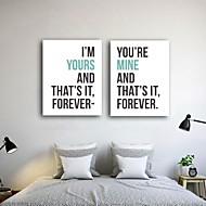 Canvastaulu art romanttinen rakkaus lainaus 2 kpl