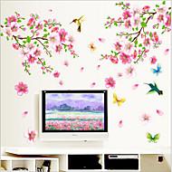 Environmental Removable Plum Blossom PVC Wall Sticker