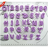 Cartoon  Alphabet  Plastic Cookie Cutter 36 pcs