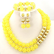 Delicate Crystal Beads Jewelry Set African Wedding Bridal Jewelry Necklace Set AC051