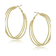 Fashion Jewelry Unique Multi Circle Big Hoop Earrings for Women