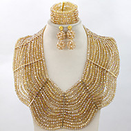 Marvelous African Nigerian Chunky Beads Jewelry Set Big Costume African Wedding Jewelry Set