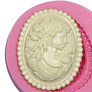 Cameo Female Silicone Mold Silicone Lady Mold For Fondant Fimo Gum Paste & Chocolate SM-473