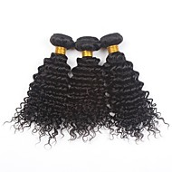 "3Pcs/Lot 26""Unprocessed Peruvian Virgin Hair Bundles Natural Colour Deep Weave Human Hair Weaving"