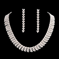 Women's Cubic Zirconia/Alloy Jewelry Set
