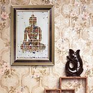 E-HOME® Framed Canvas Art,  The Buddha Framed Canvas Print