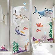 Removable Shark of The Underwater World Shaped Wall Sticker