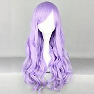 móda dívka fialová velké vlny vysoce kvalitních syntetických vlasů