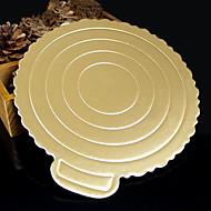 junta de papel duro junta papel bolo mousse roundles ouro (8 polegadas)