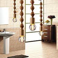 MAX 60W Tradicional/Clásico Mini Estilo Madera/Bambú Lámparas Araña Sala de estar / Dormitorio / Comedor / Habitación de estudio/Oficina