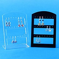 24 Hole Resin Earrings Displays(Transparent,Black)(1Pc)