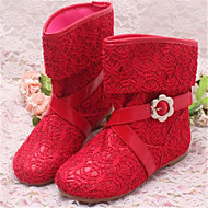 Bottes ( Rose/Rouge/Or ) - Satin - Bout rond
