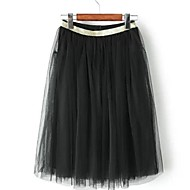 Women's Black Skirts , Casual/Lace Above Knee