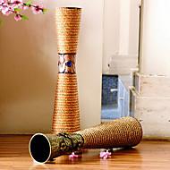 """23.6 """"h moderne stil jern vase sylindriske vase blomstermønster"""