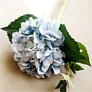 Six Blue Hygrangeas Artifical Flowers