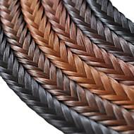 handmade fishbone Zopf Kunsthaargeflecht knallt Clip in Haarteile mit vielen Farben