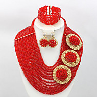 African Wedding Jewelry Sets 2015 New Nigerian Beaded Jewelry Set