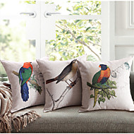 Linen Cotton  Printing Lovebird  Cushion