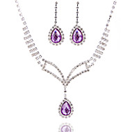 Generous Ladies'/Women's Alloy Wedding/Party Jewelry Set With Pearl/Rhinestone