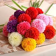 "41.3""L Set of 1 Welsh Onion 3 Heads Flower Silk Cloth Flowers"