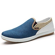 Men's Shoes Round Toe Flat Heel Loafers Canvas  with Slip-on Shoes More Colors available