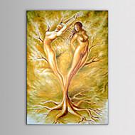 ストレッチフレームのモダンな抽象的な裸の女性の木の手塗りのキャンバスの絵iartsオイル