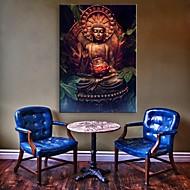 E-Home® gestreckt geführt Leinwanddruck Kunst der Buddha-Flash-Effekt führte blinkenden Lichtwellenleiter Druck