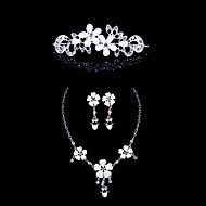 Resin Alloy Wedding/Party Jewelry Set With Rhinestone