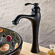 Tradicional Conjunto Central Válvula Cerâmica Single Handle Uma Abertura with Bronze Oleado Torneira pia do banheiro