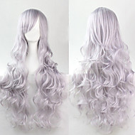 moda cosplay d'argento must-have parrucca di capelli ragazza di alta qualità capelli ricci
