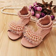 Sandal ( Rosa/Beige ) - i Öppen tå/Komfort - till FLICKA
