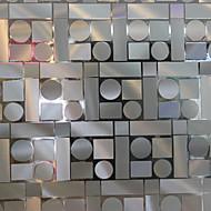 Contemporary Geometric Mosaic Pattern Window Film