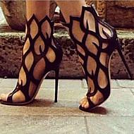 Scarpe Donna - Sandali - Serata e festa - Tacchi - A stiletto - Di pelle - Nero