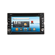 6.2-inch 2 Din TFT Screen In-Dash Car DVD Player With Bluetooth,Navigation-Ready GPS,iPod-Input,RDS,Wi-Fi,TV