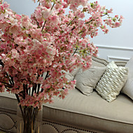 Romantic Pink Big Cherry Floral Floor for Home Decorative