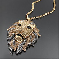 Hip Hop Fashion Gold Lion Necklace