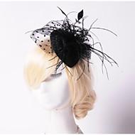 Dame Fjær/Perle/Nett Headpiece Bryllup/Spesiell Leilighet/Utendørs fascinators/Hatter Bryllup/Spesiell Leilighet/Utendørs 1 Deler