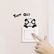 Switch Wall Stickers Wall Decals, Cartoon Panda PVC Switch Sticker