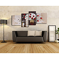Abstract/Still Life Handmade 3D Framed Art Beige Frame Wall Art with PU Leather