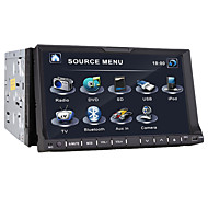 7-inch tft-scherm 2 din in-dash auto dvd-speler met iPod / iPhone-usb-ingang, bluetooth, rds, tv